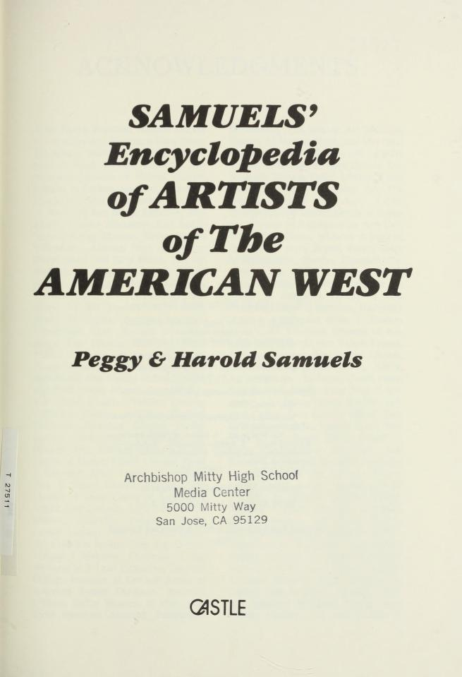 Samuels' encyclopedia of artists of the American West by Peggy Samuels